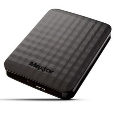 "Maxtor M3 Portable 500GB External Hard Drive, 2.5"", USB 3.0, Black"